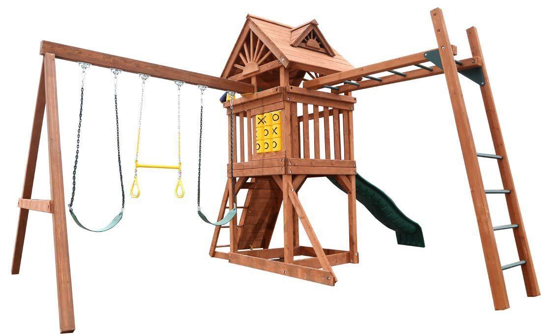 Детские деревянные игровые уличные площадки