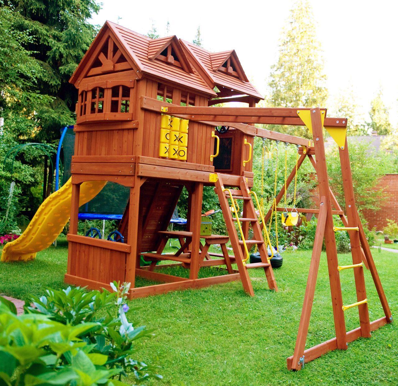 Детские игровые домики для дачи своими руками