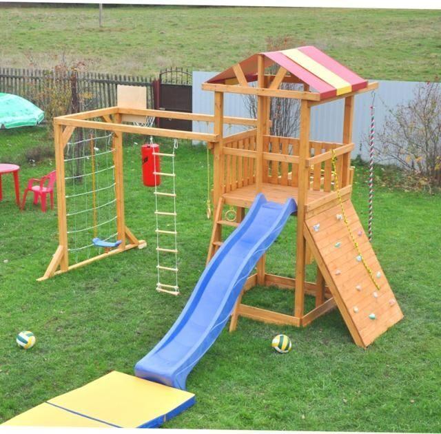Деревянные детские площадки для дачи своими руками фото