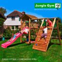 Детский городок Jungle Gym Cottage + Climb Module Xtra